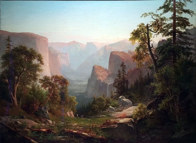 'View of the Yosemite Valley, in California,' Thomas Hill, 1865.